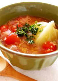 キヌアたっぷりエッグロールキャベツスープ