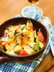 鶏胸肉とお野菜のチーズグリルの写真