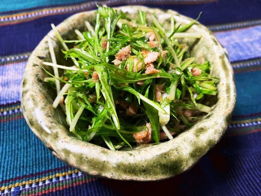 とっても簡単 水菜サラダ