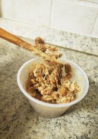 玄米から作る自家製納豆 粘り強め!