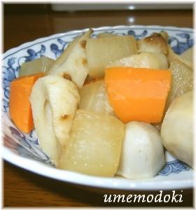 里芋と野菜と竹輪のさっぱり煮
