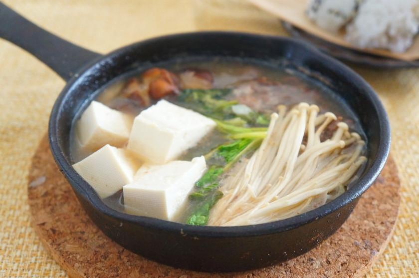 エゾシカ肉の肉豆腐おろし大根ゆず風味