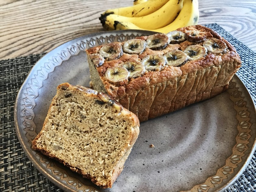 低糖質バナナオートミールパウンドケーキ