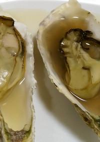 蒸し汁も味わう!蒸し牡蠣(殻付き)
