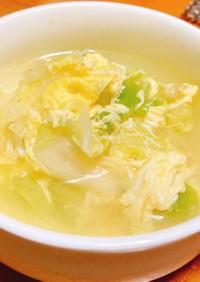 白菜と卵のふんわりスープ