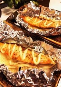 玉ねぎとえのきで鮭のホイルマヨ焼き✨