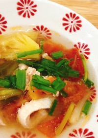 ベトナム料理甘酸っぱいスープ(鮭編)