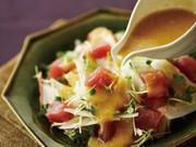 和風ドレッシング:まぐろと大根のサラダの写真