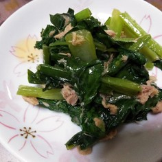 小松菜とツナの炒めもの