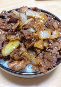 簡単男飯!ボリューム満点焼肉牛丼