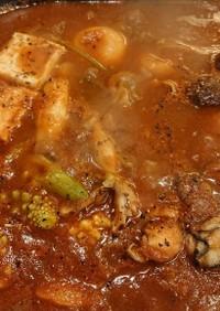 セロリが隠し味のトマト鍋