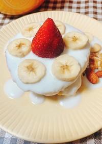 オートミールのミニバナナパンケーキ