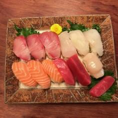 スーパーのお刺身で握り寿司