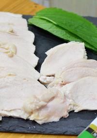 家飲みを楽しく♬鶏むね肉でしっとり茹で鶏