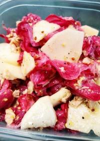 赤カブとりんごのマスタードサラダ