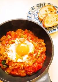 ☺朝ごはんに☆簡単玉子料理シャクシュカ☺