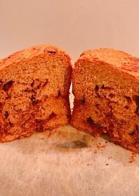 HBで、グラハム粉多めの、チョコ食パン