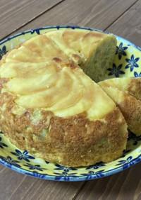 炊飯器で簡単!りんごとさつまいものケーキ