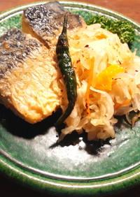簡単 塩鯖の南蛮漬け 発酵野菜使用