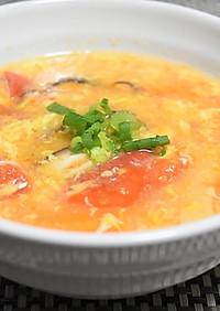 減塩!トマトサンラータンスープ