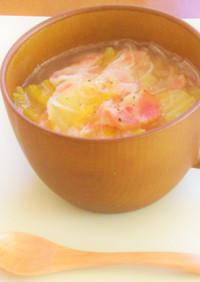 ベーコンと白菜の春雨スープ