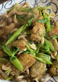 牡蠣とセロリの中華風炒め