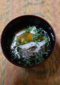 舌平目と豆腐のすまし汁★備前市栄養委員会