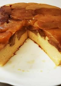 簡単!タルトタタン風スライスチーズケーキ