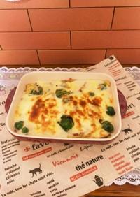 ミニキャベツと薩摩芋のチーズグラタン