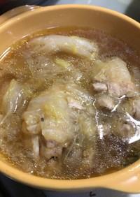 手羽元と白菜のスープ