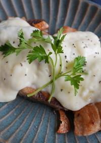 ぶりのガリバタ焼き・とろけるチーズソース