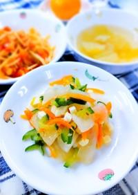 ごまとチーズの和風大根サラダ! 簡単給食