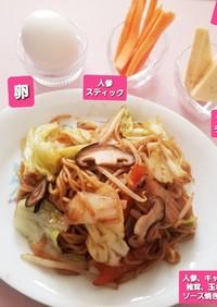 椎茸&人参&キャベツ&玉ねぎの焼きそば☆