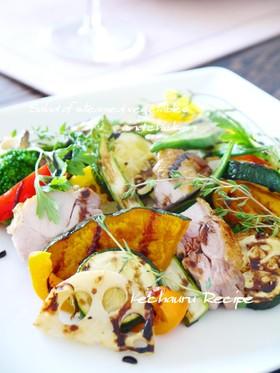 温野菜サラダ 濃厚バルサミコソース