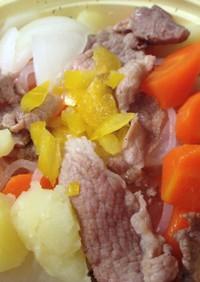 豚・肉じゃがのスープ煮