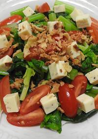 セロリとアイコトマトのチーズサラダ