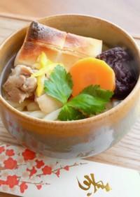 【簡単】お雑煮で年明けうどん