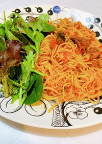 低糖質!トマトと鯖缶の簡単糖質0麺パスタ