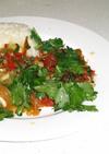 タイ風白身魚とパッションフルーツソース