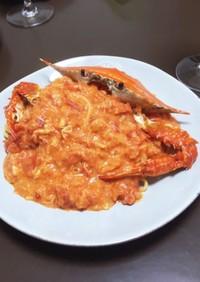 渡り蟹が絶品!トマトクリームパスタ