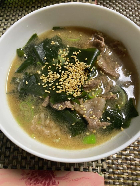 本場の味、韓国風わかめスープ
