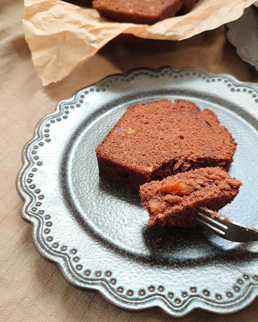 しっとりふんわりココアとオレンジのケーキ