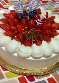 超簡単☆誰でも簡単!苺のクリスマスケーキ