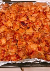 オーブンで、串なし大量焼き鳥