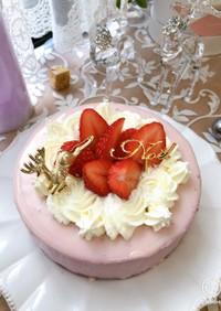 ラズベリーのムースケーキ