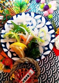 ☆正月料理☆カワハギてっさ☆