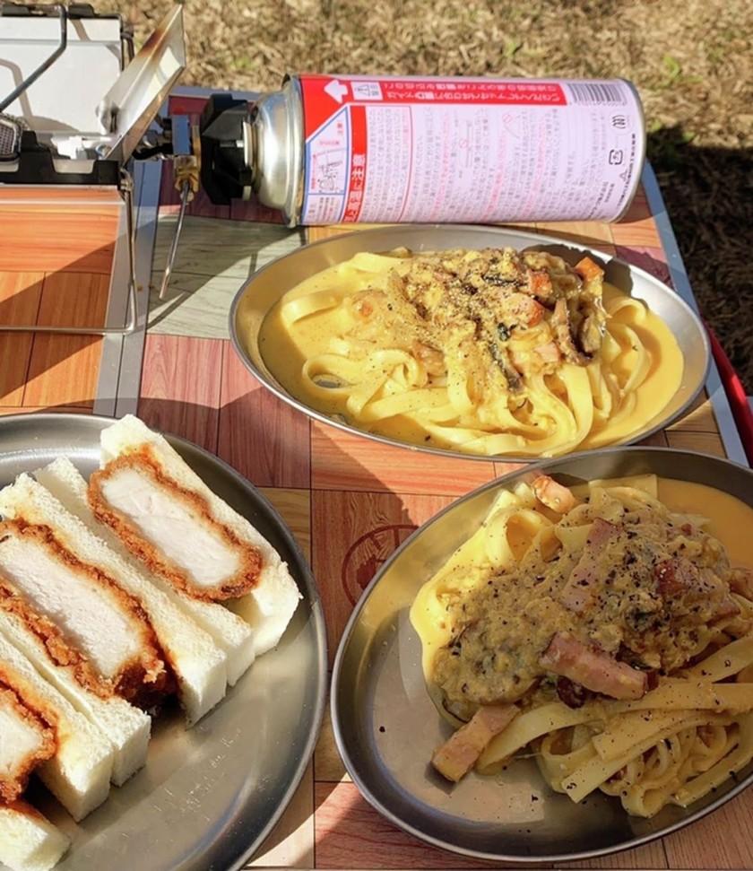 キャンプ飯 メスティンでカルボナーラ