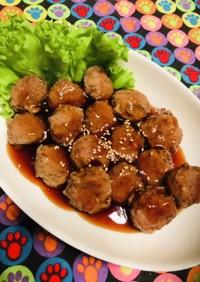 お弁当にも!甘酢醤油のミニ丸手作り肉団子