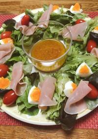 野菜すりすりドレッシングとリースサラダ