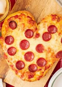 液体塩こうじでもちもち手ごねハートピザ♪
